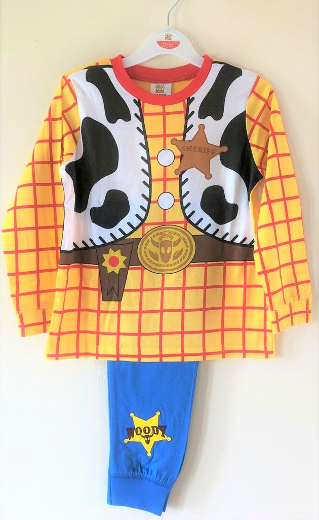 New Boys Toy Story Woody Sheriff Pyjama Set Baby Boys - Exstore - Ages 2-5 Yrs