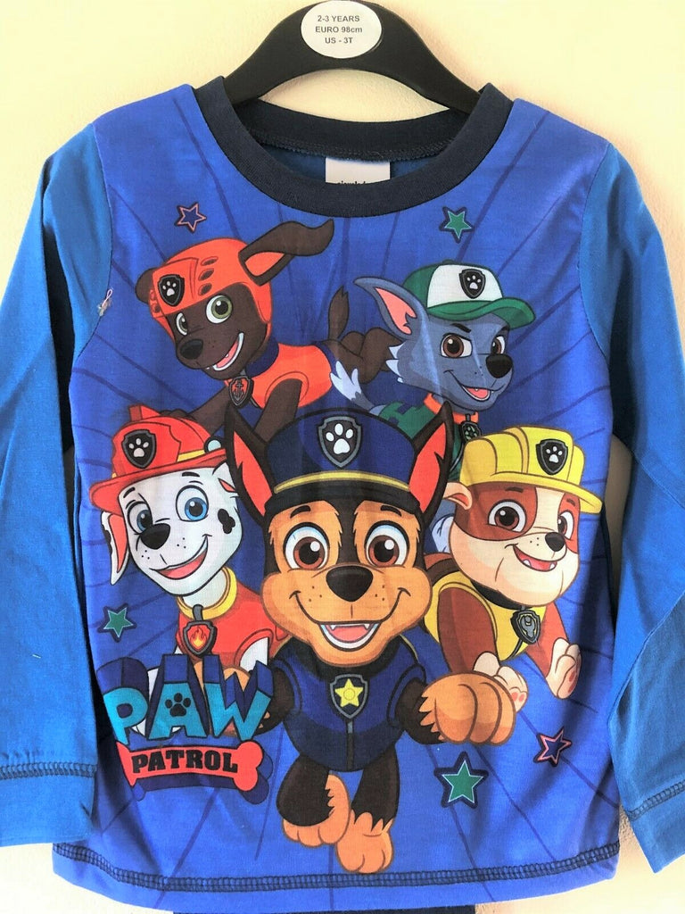 "New Boys Paw Patrol ""One Team"" Long Sleeved Pyjama Set - Official Exstore - Ages 2-4 Years"