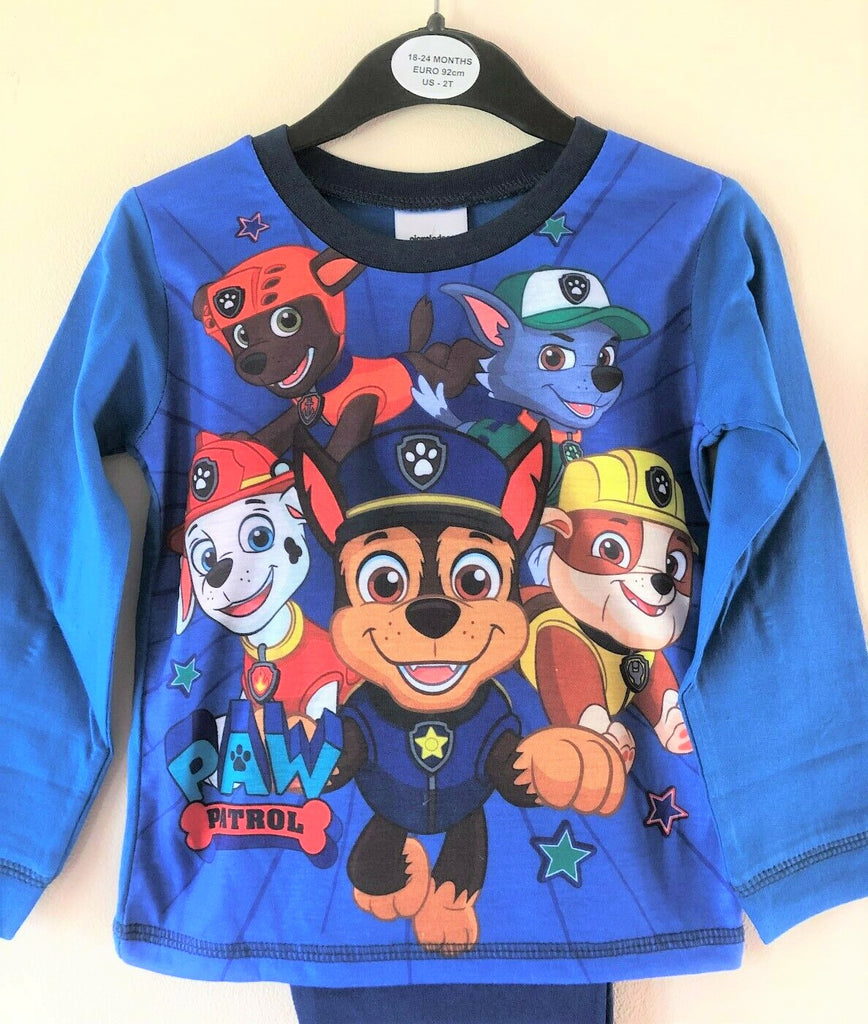 "New Boys Paw Patrol ""One Team"" Long Sleeved Pyjama Set - Official Exstore - 12-24M"