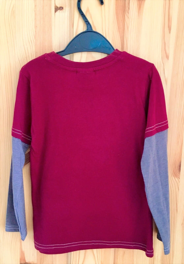 New Boys Thomas Tank Engine L/S Top - Exstore TU - Hollographic Burgundy Size 9-12 M