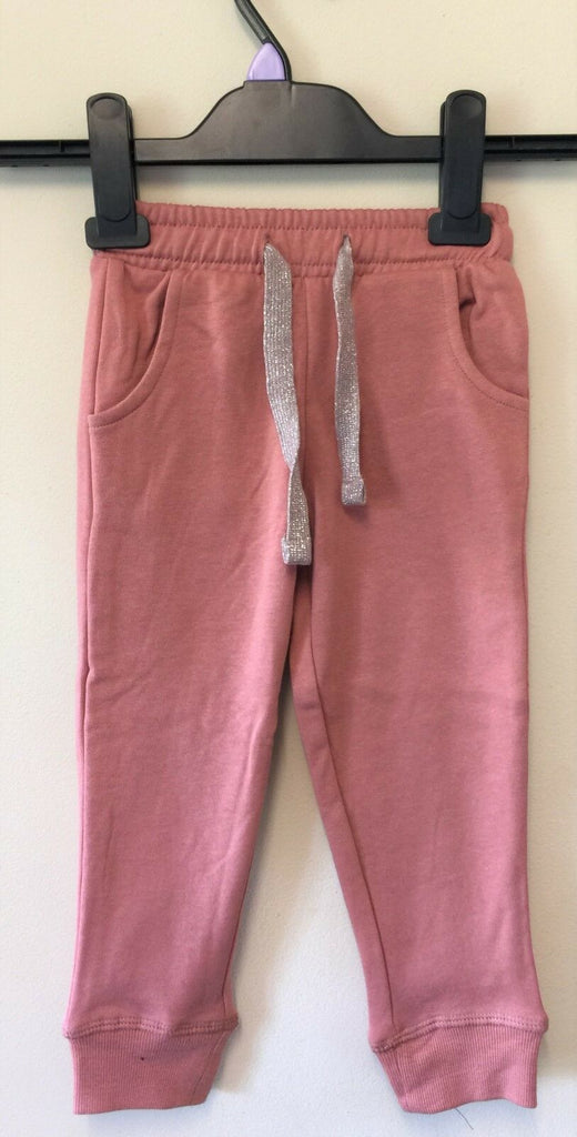 New Next Girls Tracksuit Bottoms Salmon Pink - Exstore - Ages 2-5 Years