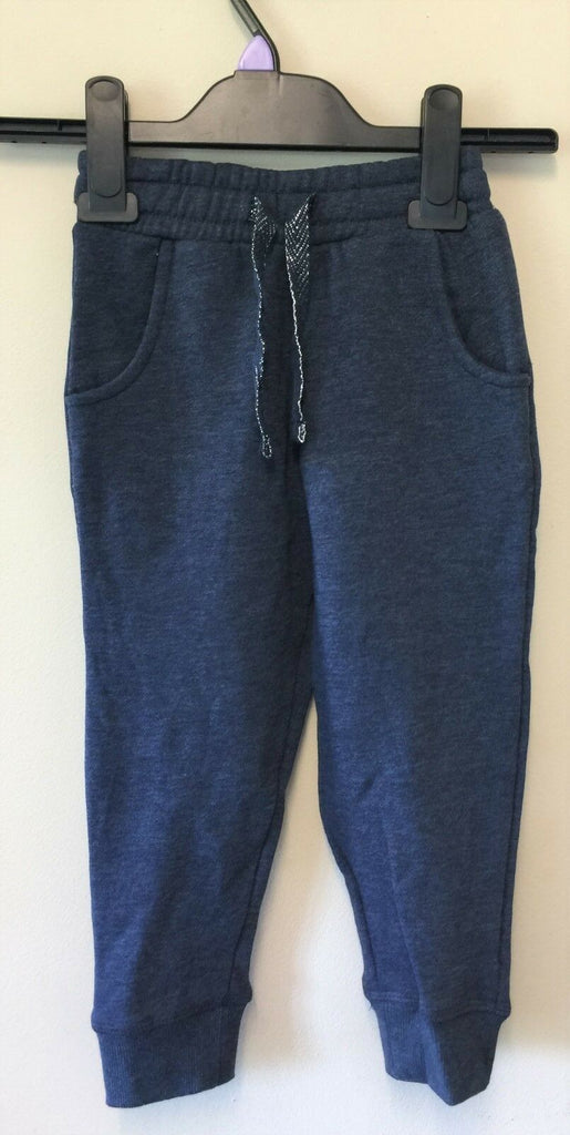 New Next Girls Tracksuit Bottoms Navy Blue - Exstore - Ages 2-5 Years