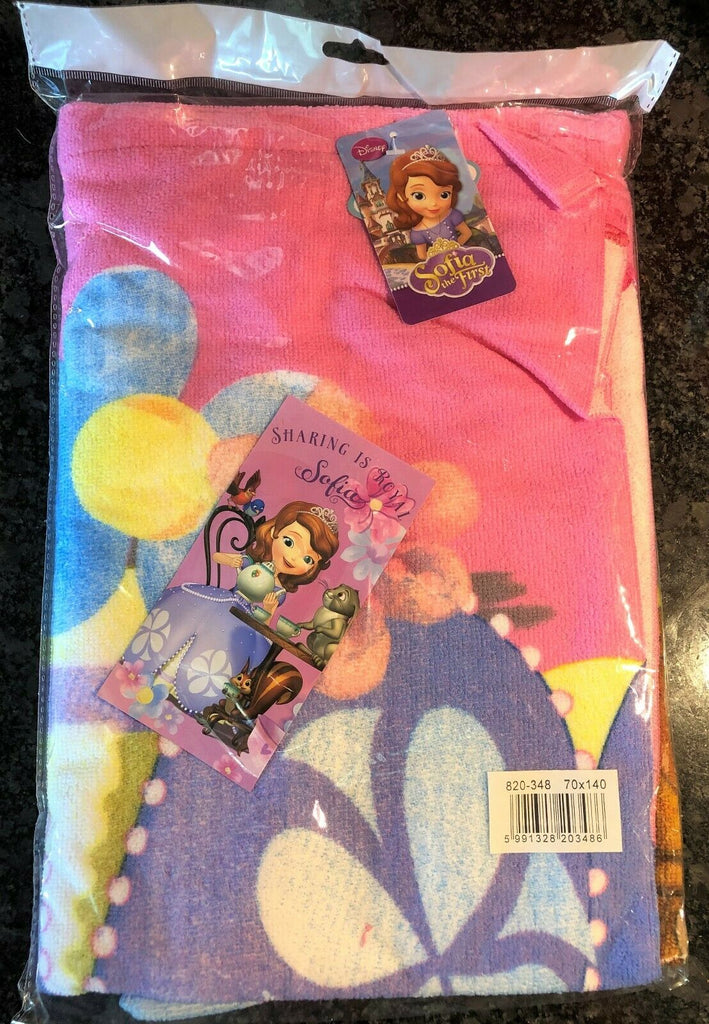 New Sofia The First Girls Beach/Bath Towel - Fast Dry - Official Disney - Soft Feel 70x140cm