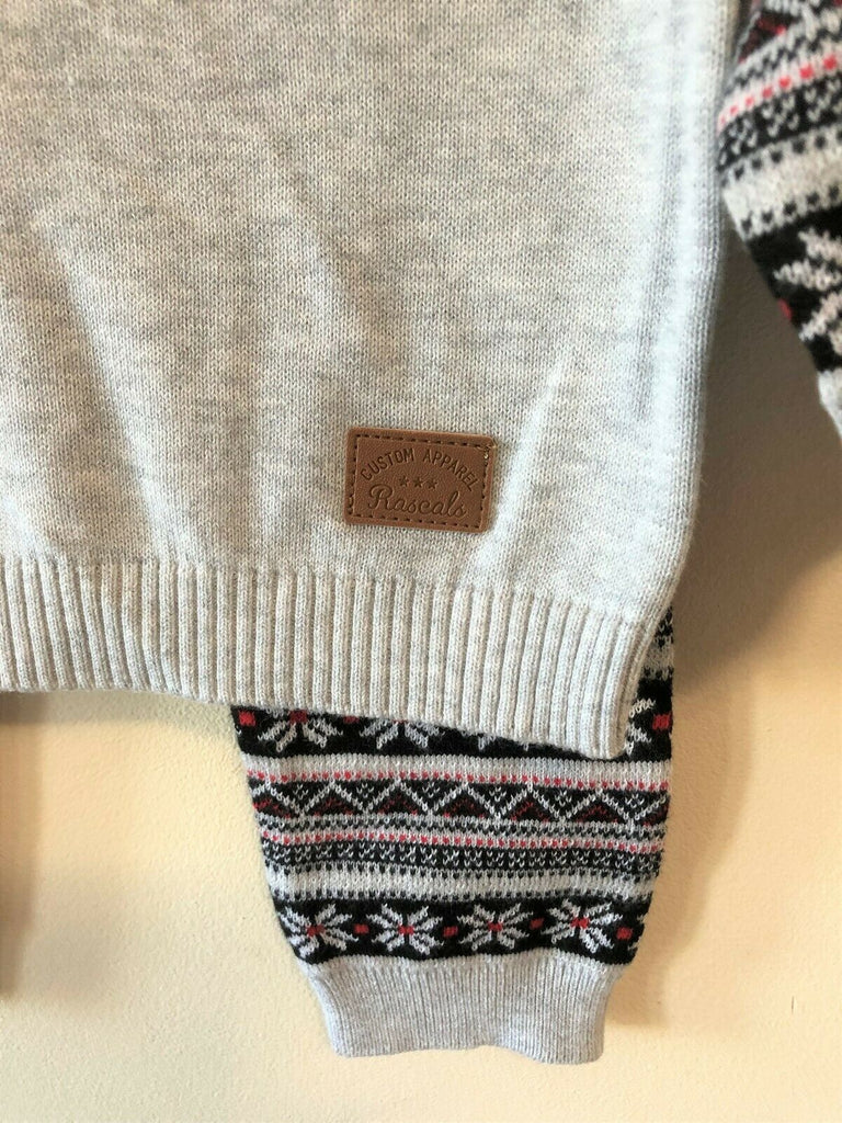 New Boys 2Pc Snowflake Christmas Jumper/Bottoms - Fine Knit - Exstore Nutmeg Ages 3-24M