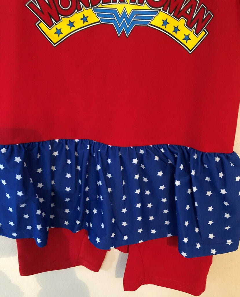 New Baby Girls Wonder Woman Swimsuit & Cap UV Protect 2Pcs - Exstore - Size 18/24 M