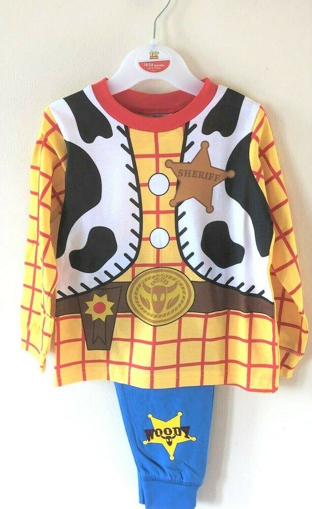 New Boys Toy Story Woody Sheriff Pyjama Set Baby Boys - Exstore - Ages 12/24 Months