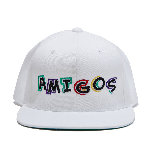 Amigos Full Color Snapback - White