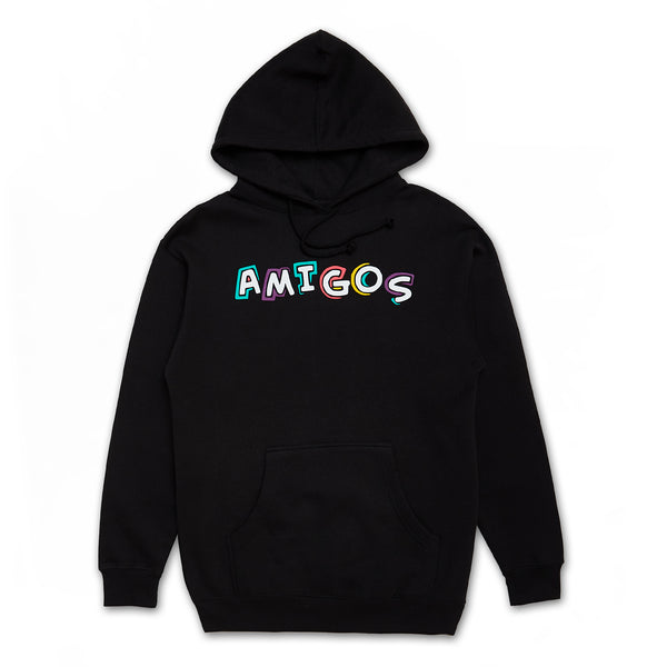 Amigos Full Color Hoodie - Black