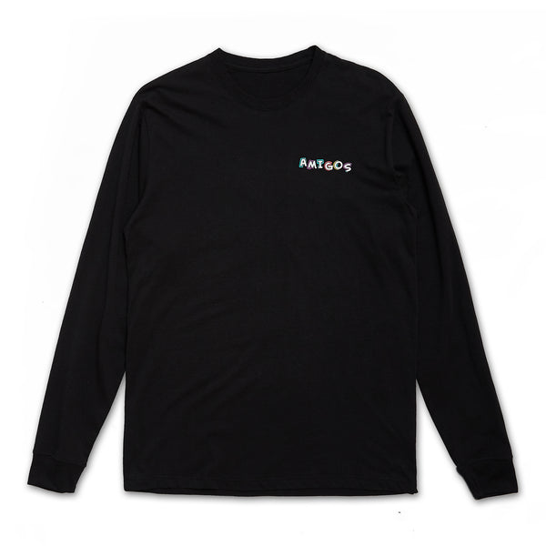 Amigos Full Color Long Sleeve - Black
