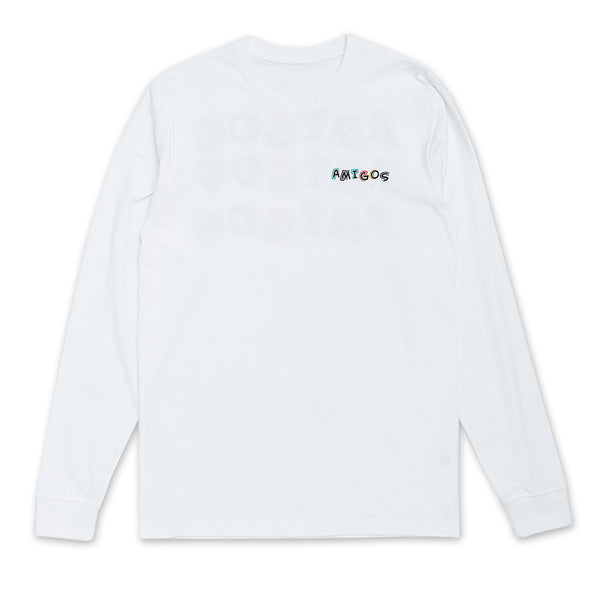 Amigos Full Color Long Sleeve - White