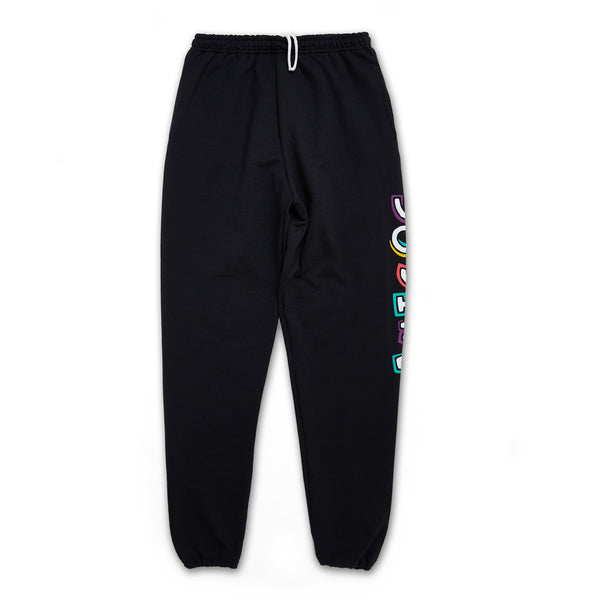 Amigos Full Color Sweatpants - Black