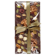 Load image into Gallery viewer, FRUIT & NUT DARK CHOCOLATE BAR