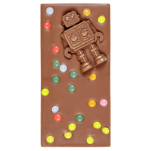 Load image into Gallery viewer, MILK CHOCOLATE ROBOT SWEETIE BAR