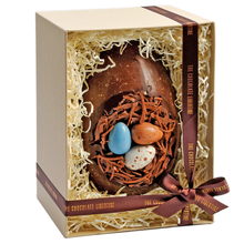 Load image into Gallery viewer, CARAMEL & SEA SALT DARK CHOCOLATE NEST EGG