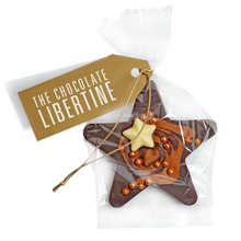 Load image into Gallery viewer, DARK CHOCOLATE CHRISTMAS HANGING STAR