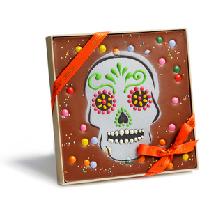 MILK CHOCOLATE DAY OF THE DEAD SKULL TILE
