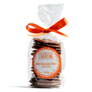 ORANGE WAFER BISCUIT MILK CHOCOLATE THINS