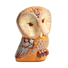 Load image into Gallery viewer, MILK AND WHITE CHOCOLATE HAND PAINTED OWL FIGURINE
