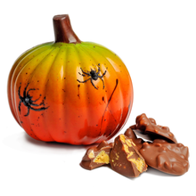 Load image into Gallery viewer, MILK CHOCOLATE PUMPKIN FIGURINE & HONEYCOMB NIBBLES