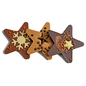 DARK CHOCOLATE CHRISTMAS HANGING STAR