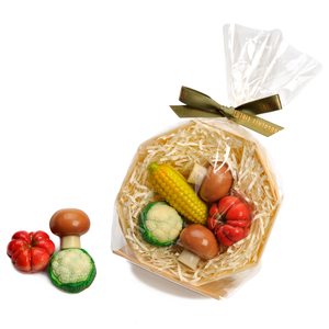 Miniature Milk & White Chocolate Vegetable Basket