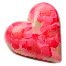 Load image into Gallery viewer, HAND PAINTED CHOCOLATE ROSE PETAL HEART