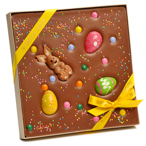 MILK CHOCOLATE EASTER BUNNY TILE