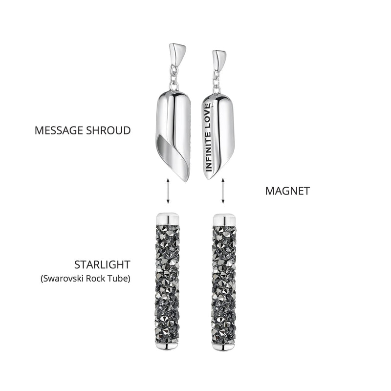INFINITE LOVE Earring (Light Chrome)