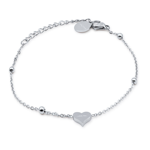 'I LOVE YOU' heart bracelet