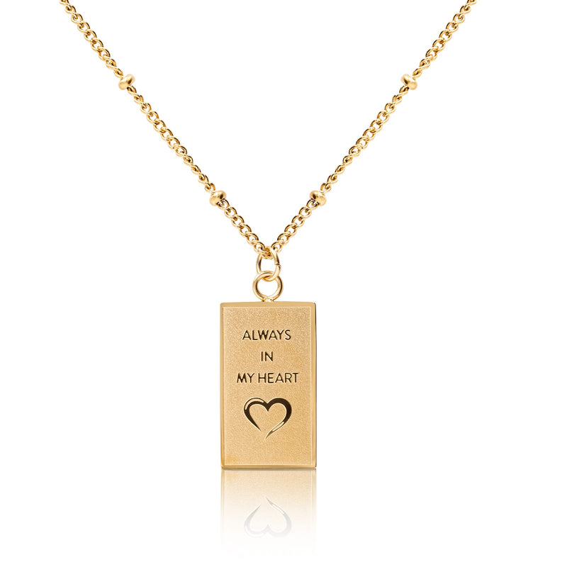 'ALWAYS IN MY HEART' necklace