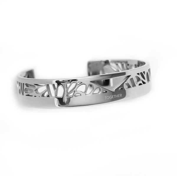 TOGETHER Cuff silver