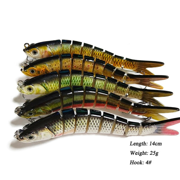 Multi jointed lure bait fish lure