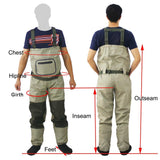 Waterproof and Breathable Fishing Waders