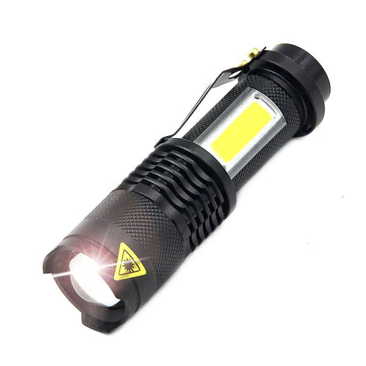 Super Bright Mini Cob Led Flashlight Cree Xml Q5 Led Torch Cob Portable 4 Modes Flashlights