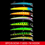 43x Mixed Fishing Lures