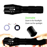 8000LM LED Zoomable Flashlight