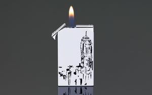 PCC Siglo Twin Flames Lighter HK Skyline