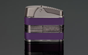 PCC Siglo Retro Table Lighter Gun W/Purple