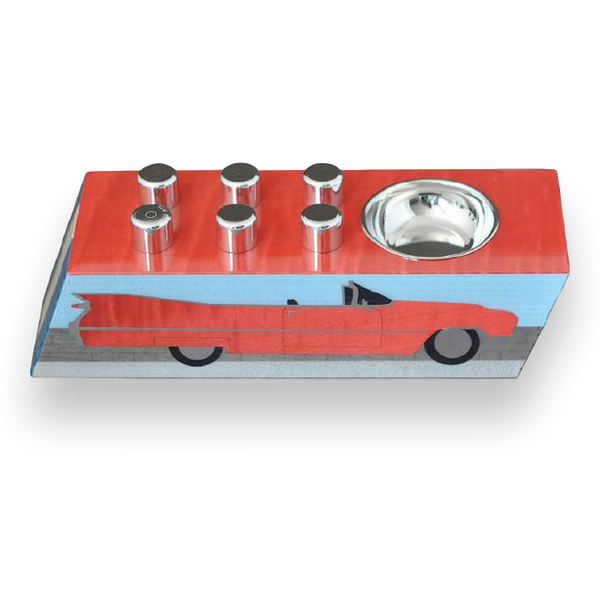 "Elie Bleu Egoist Ashtray ""Carros Americanos"" Blue"