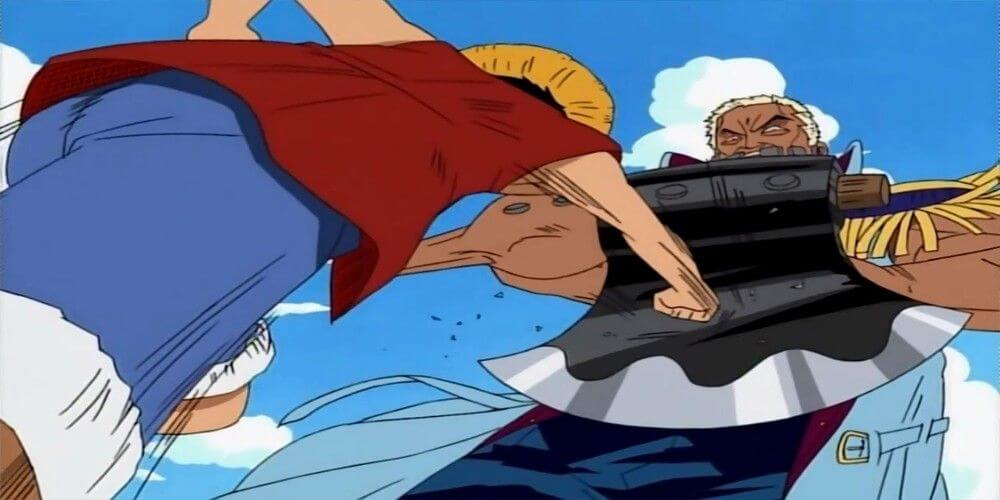 Morgan le Bûcheron ou Morgan le Hacheur et luffy combat