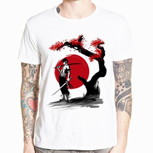 t-shirt one piece zoro lune de sang