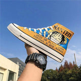 Boutique One Piece Chaussure Jaune / 43 Chaussure One Piece Wanted Luffy