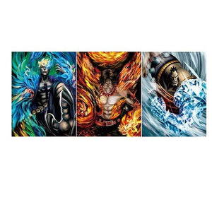 Boutique One Piece Poster Lot 3 Poster One Piece Les Commandant De La Flotte De Barbe Blanche