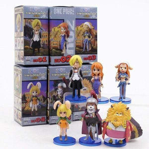 Boutique One Piece Figurine One Piece Lot De 6 Figurine One Piece Sanji Nami Et Les Minks