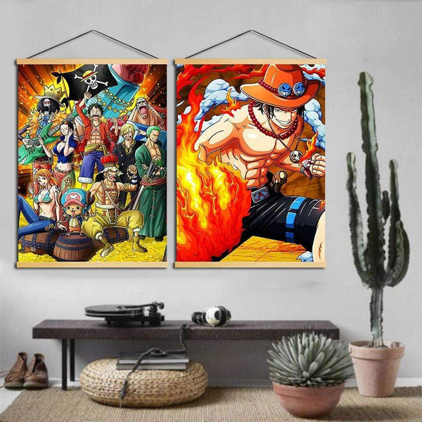 Boutique One Piece Poster Poster One Piece Ace Et Son Poing En Flamme