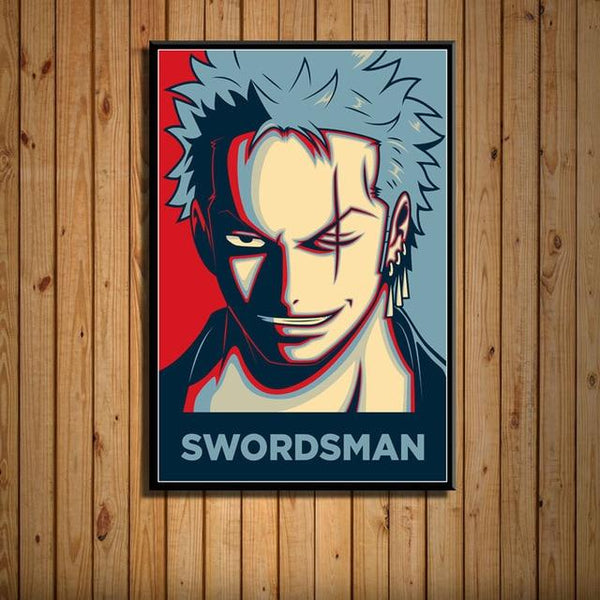 Boutique One Piece Poster 35 X 50cm Poster One Piece bretteur zoro