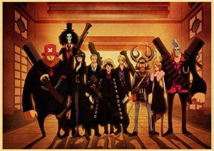 Boutique One Piece Poster 12x20cm Poster One Piece Les Mugiwaras en Mafieux