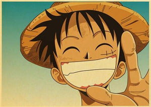 Boutique One Piece Poster 50x70cm Poster One Piece Luffy Avec Un Grand Sourire