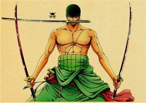Boutique One Piece Poster 30X42cm Poster One Piece Roronoa Zoro