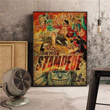 Boutique One Piece Poster 12x20cm Poster One Piece Stampede L'Assaut Des Pirates